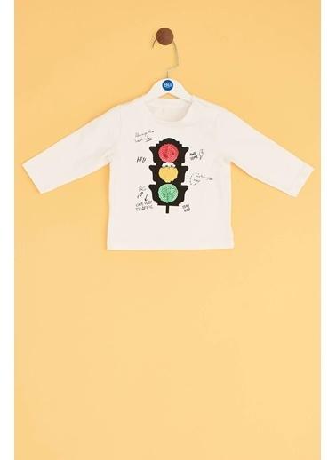 BG Baby Erkek Bebek Ekru T-Shirt Ekru
